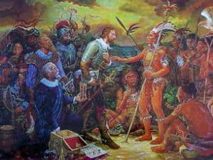 Ponce de León recibido por Aqueybana