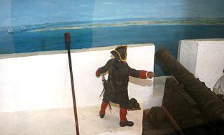 Soldado español en el Castillo de San Marcos en Florida