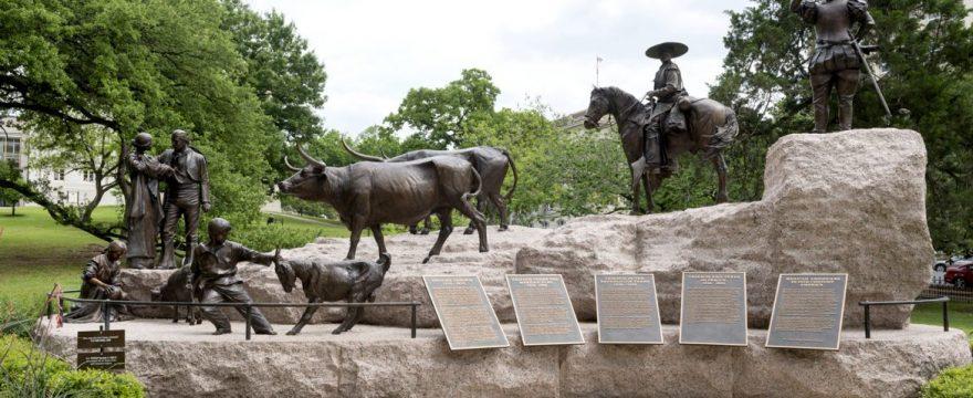 Monumento a los vaqueros de Texas en Austin