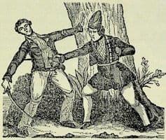 Dibujo de la pirata Mary combatiendo