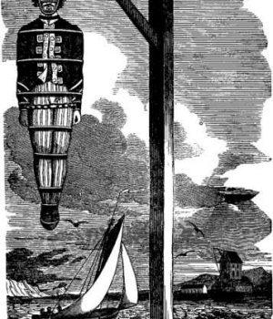 Capitán William Kidd ahorcado en el Támesis