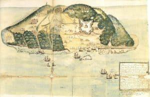 Dibujo de la Isla Tortuga