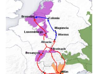 Camino desde Italia a Flandes