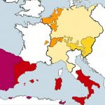 Territoriosen Europa de Carlos V de España
