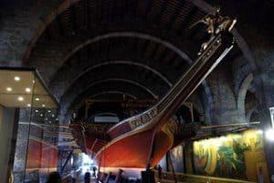 Galera Real en el Museo Marítimo de Barcelona