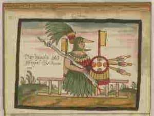 Huitzilopochtli, Dios azteca de la guerra