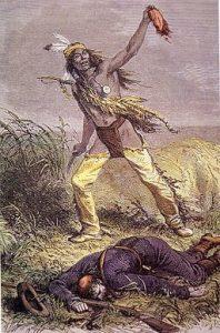 Apache con la cabellera