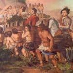 Pintura colonizacion de los indigenas