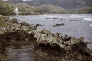 Paisaje de la Isla de Guam, costa