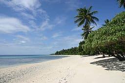 Paisaje de las Islas Marshall, playa
