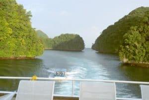 Paisaje de Islas Palau en Micronesia