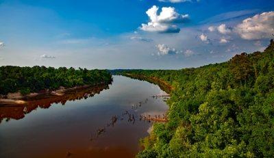 Paisaje de Estado de Alabama, rio