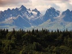 Paisaje de Estado de Alaska, montañas