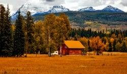 Paisaje de Estado de Colorado, granja