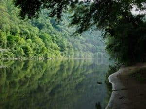 Paisaje de Estado de Delaware, rio