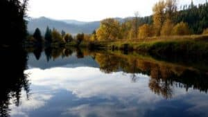 Paisaje de Estado de Idaho, rio