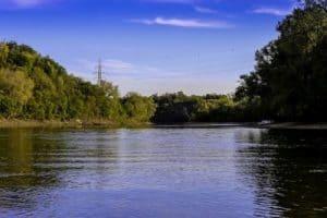 Paisaje de Estado de Mississippi, el gran rio