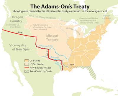 Tratado español con U.S Adams Onis