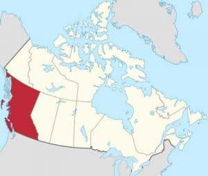 Mapa de territorios de Canadá cedidos por España