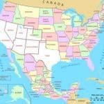 Mapa territorios de Mexico hoy estados de U.S