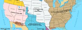 Mapa de la expansión de las 13 colonias por La Louisiana