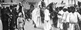 Representación de Moros y Cristianos en Alcoy