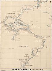 Mapa de América de Juan de Ribero