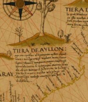 Mapa Tierras de Ayllon en Norteamérica