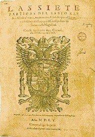 Portada de las Siete Partidas de Alfonso X