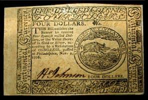 Dolar en papel de 1776