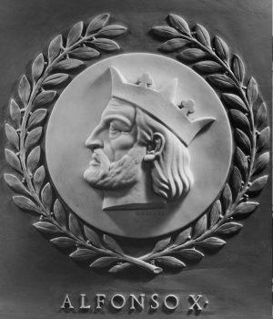 Retrato esculpido de Alfonso X el Sabio