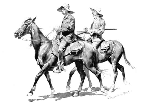 Vaqueros a caballo