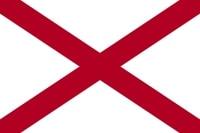Bandera de Alabama en U.S