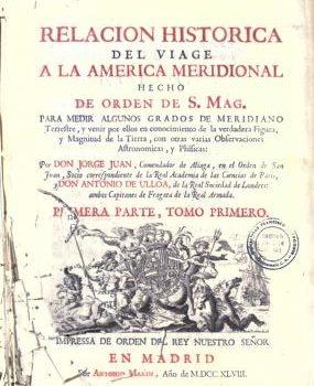 Libro Relación Histórica del viaje a la América Meridional
