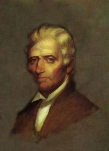 Retrato de Daniel Boone en 1820
