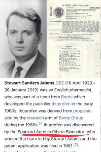 Descubridor del Ibuprofeno, Antonio Ribera Blancafort