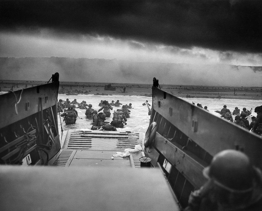 Desembarco aliado en las playas de Normandía en Francia