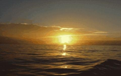 Atardeer en un mar en calvma