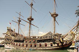 Barco para la pelicula del pirata Barbanegra