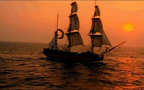 Barco rápido Filibustero en su época dorada