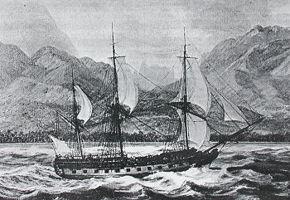 Goleta veloz navegando