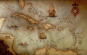 Mapa general de las principales islas del Mar Caribe