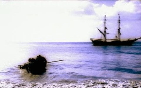 Bucaneros acercandose a una nave