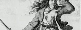 Dibujo de la mujer pirata Mary Read