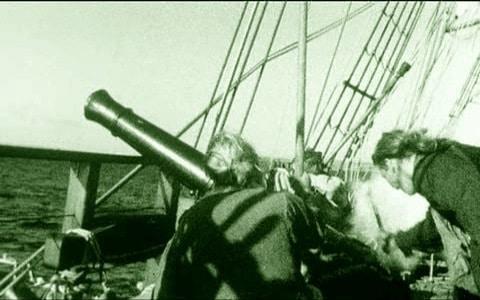 Cañon de un barco bucanero