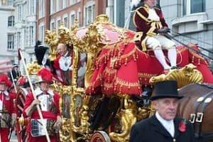 Carroza ceremonial del desfile de las autoridades de la City de Londres