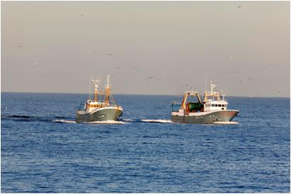 Pesqueros en zona de piratas