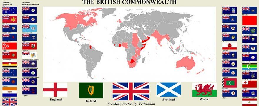 Mapa de la Commonwealth de Inglaterra