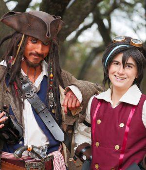 Disfraces de piratas ambientados en su época