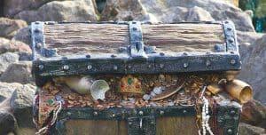 Baúl con joyas de los piratas